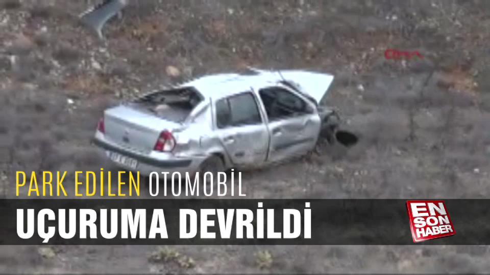 Park edilen otomobil uçuruma devrildi: 1 yaralı