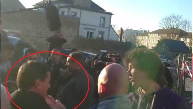 19 yaşındaki genç Fransa eski başbakanını tokatladı
