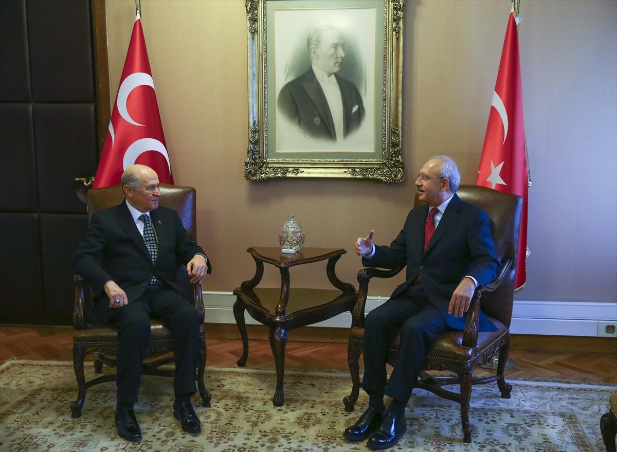 Kemal Kılıçdaroğlu ve Devlet Bahçeli görüşmesi