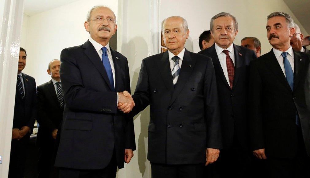 Kılıçdaroğlu ve Bahçeli görüşmesi başladı
