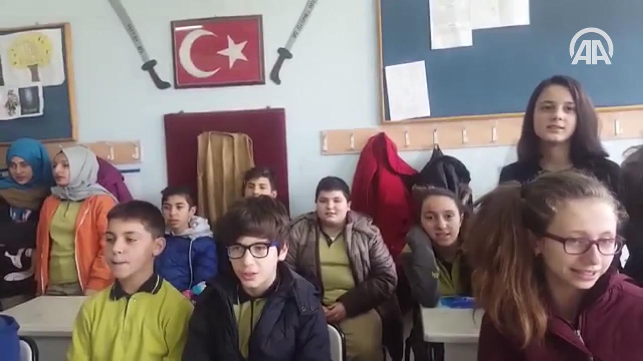 Öğrenciler, şehit polis Sekin için klip çekti