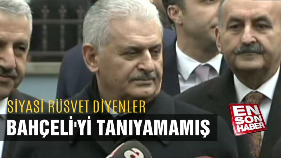Başbakan: Siyasi rüşvet diyenler Bahçeli'yi tanımamamış
