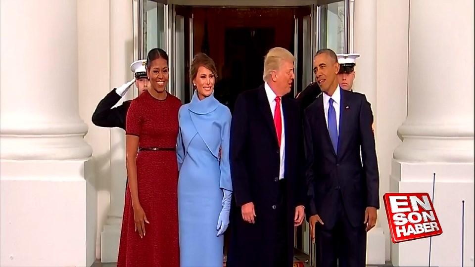 Obama Beyaz Saray'da Trump'ı karşıladı