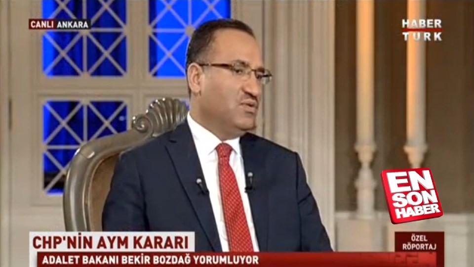 Bozdağ: CHP'nin Anayasa Mahkemesine gitmemesi samimi değil