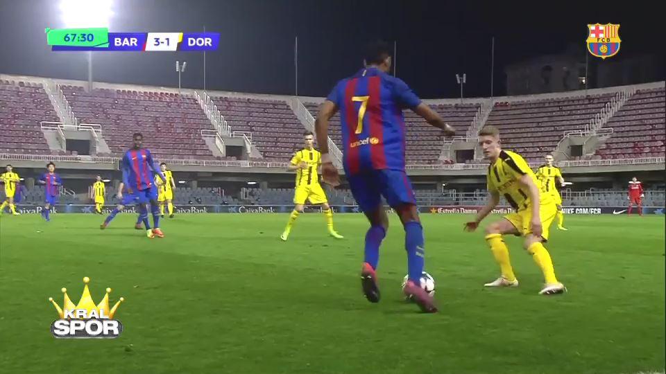 Barcelona'nın genç yeteneği Jordi Mboula'dan nefis gol