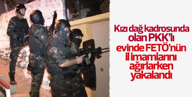FETÖ'nün imamları PKK'lının evinde yakalandı