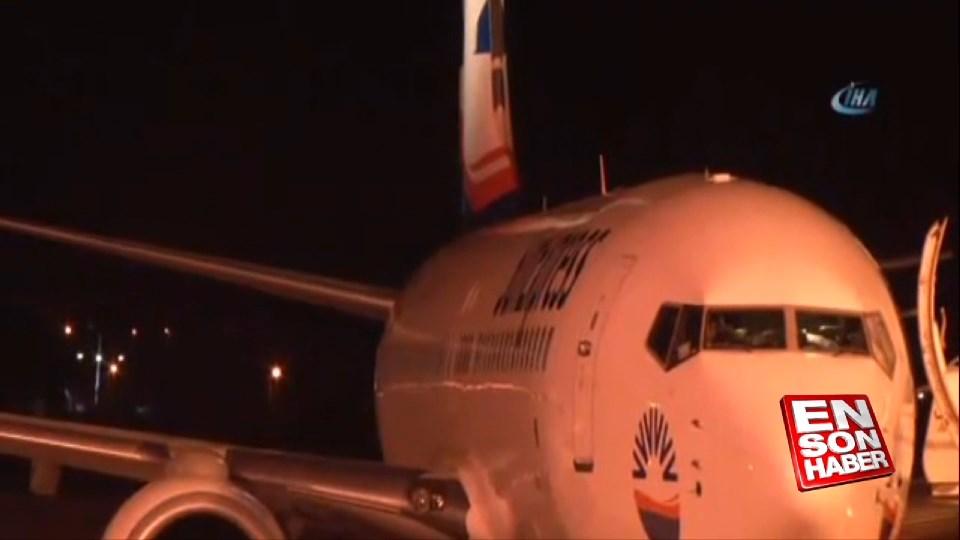 Almanya uçağı Çanakkale'ye acil iniş yaptı