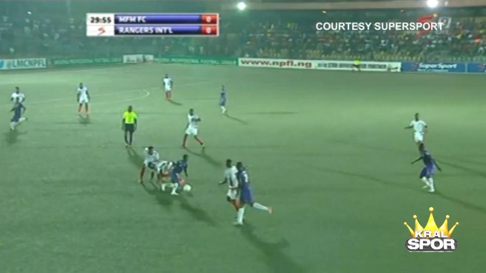 Nijeryalı oyuncudan muazzam gol