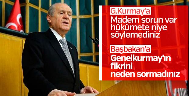 Bahçeli'den TSK ve Hükümete iletişim eksikliği eleştirisi