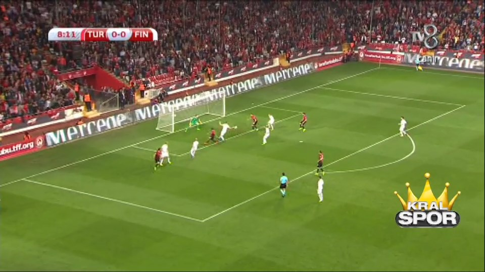 Türkiye 1 - 0 Finlandiya GOL: Cenk Tosun