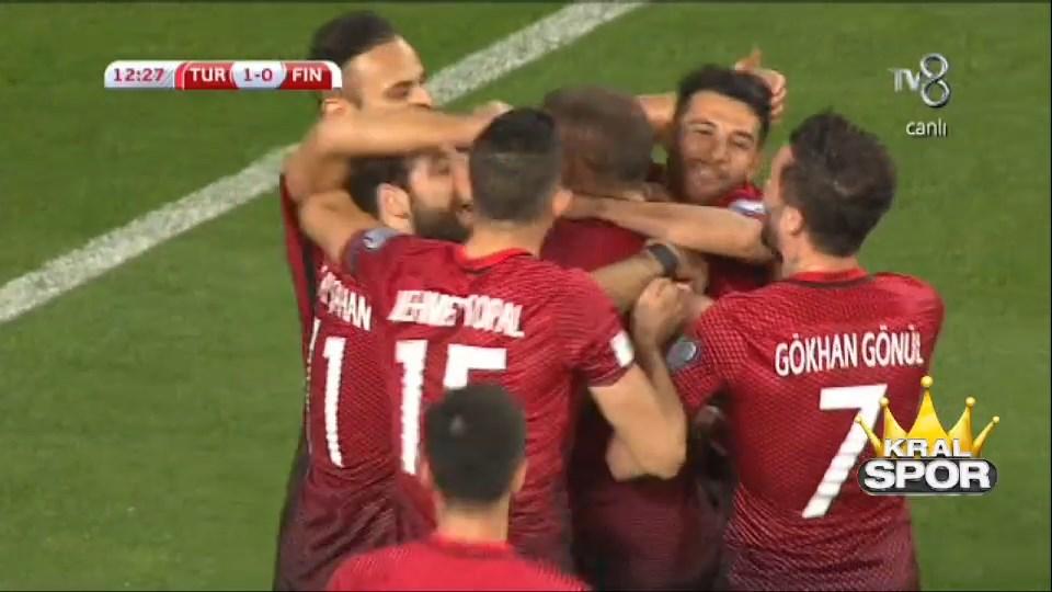 Türkiye 2 - 0 Finlandiya GOL: Cenk Tosun