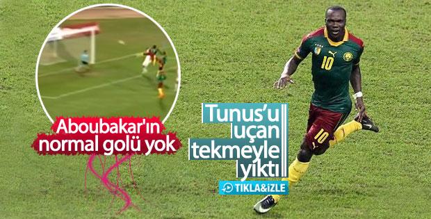 Aboubakar attığı nefis golle yine Kamerun'u sırtladı