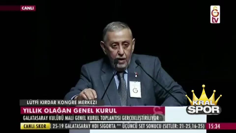 G.Saray Mali Genel Kurulu'nda Erdoğan'ı yuhaladılar
