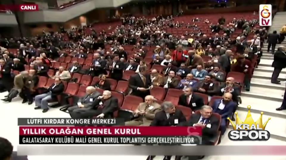 G.Saray Mali Genel Kurulu'nda İzmir Marşı söylendi