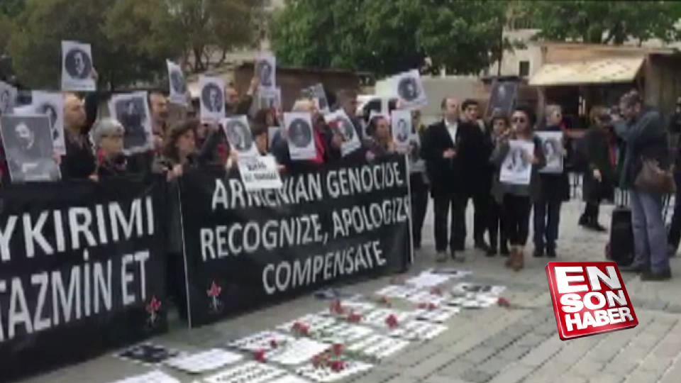 Sözde Ermeni soykırımı gösterisini protesto ettiler