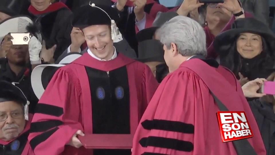 Zuckerberg'e fahri hukuk doktorası