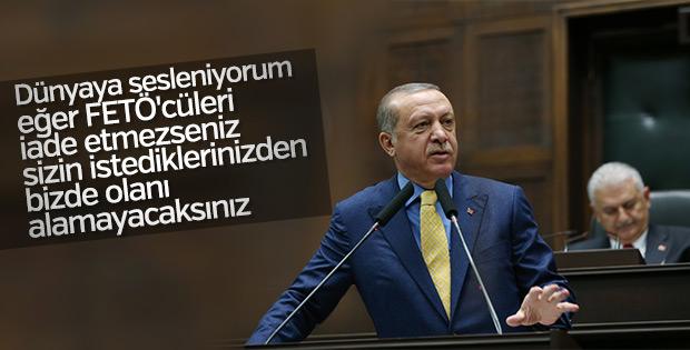 Erdoğan'dan FETÖ'cüleri koruyan ülkelere rest