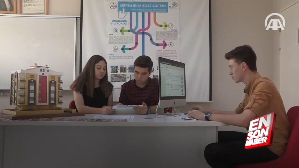 Liselilerden enkaz altındakileri hayata bağlayacak proje