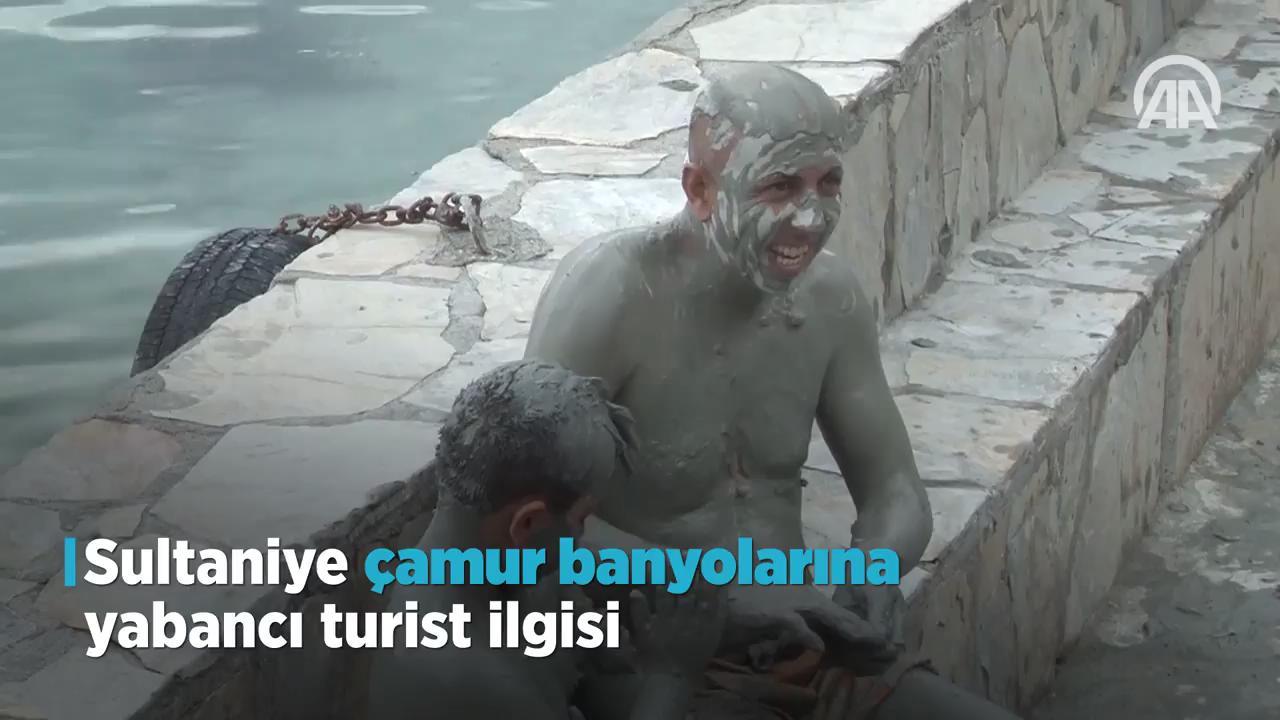 Sultaniye çamur banyolarına yabancı turist ilgisi