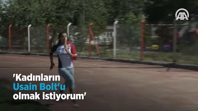 Kadınların Usain Bolt'u olmak istiyorum