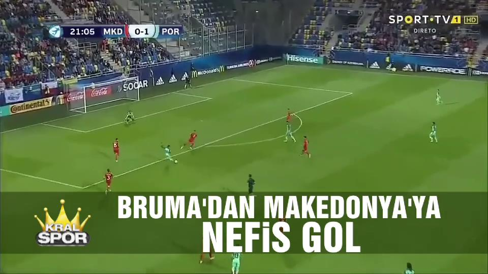 Bruma'dan Makedonya'ya nefis gol