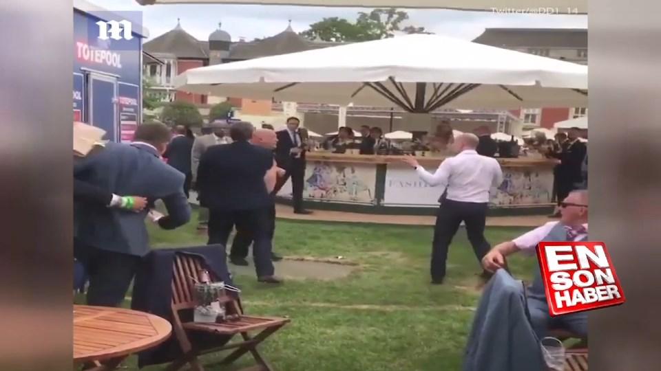 Royal Ascot At Yarışları'nda kavga çıktı