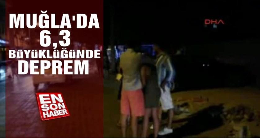 Muğla'da 6,3 büyüklüğünde deprem