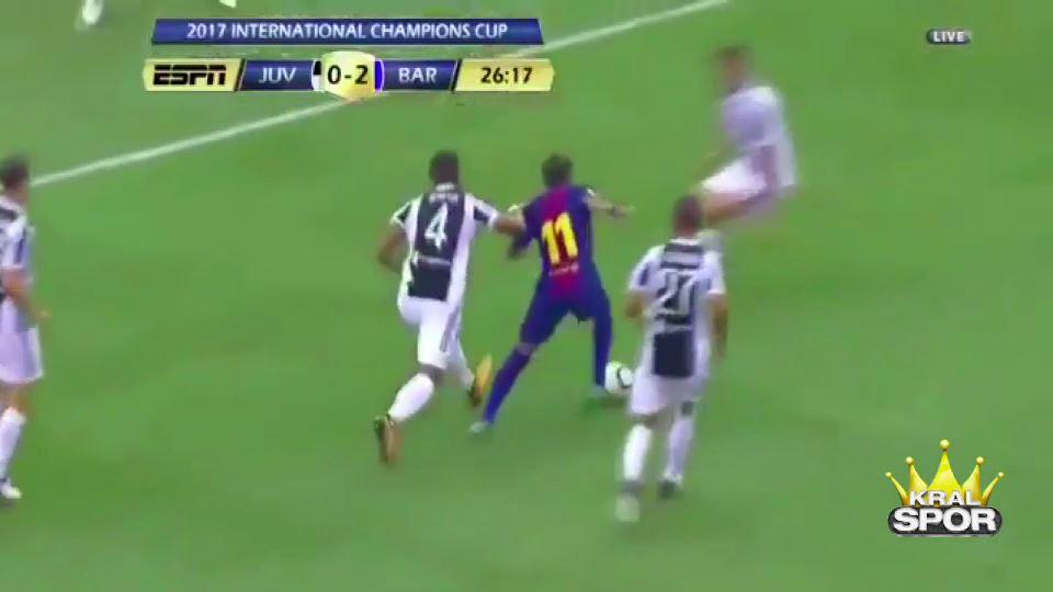 Neymar Juventus savunmasını ipe dizdi