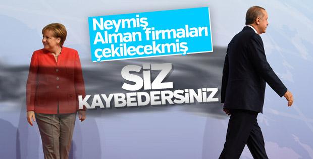 Erdoğan Almanların yaptırım tehdidini boşa çıkardı