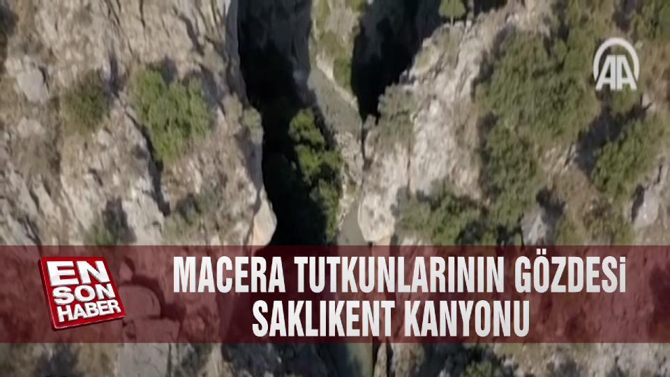 Macera tutkunlarının gözdesi Saklıkent Kanyonu