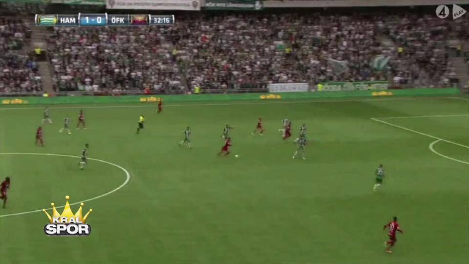 Galatasaray'ı eleyen Östersunds'tan İsveç'i sallayan gol