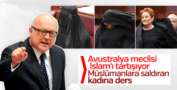 Avustralya Adalet Bakanı'ndan burka eylemine sert tepki