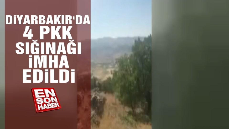 Diyabakır'da 4 PKK sığınağı imha edildi