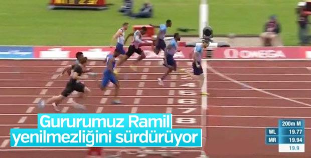 Ramil Guliyev yine birinci oldu