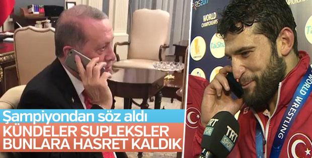 Cumhurbaşkanı Erdoğan'dan Metehan Başar'a tebrik telefonu