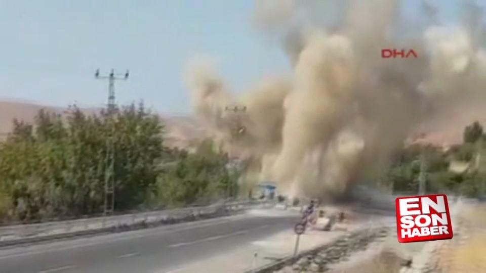 Tunceli'de yola döşenmiş patlayıcı infilak edildi