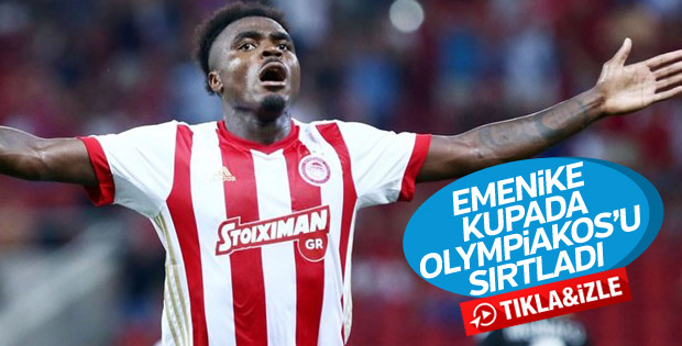 Emmanuel Emenike kupa maçında 2 gol attı