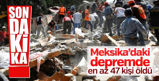Meksika'da depremde en az 47 kişi öldü