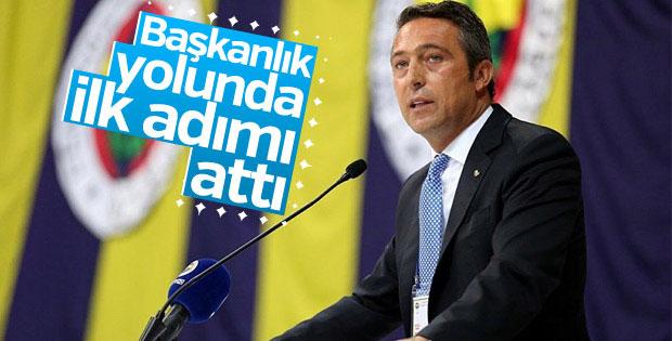 Ali Koç Fenerbahçe başkanlığı için adaylığını açıkladı