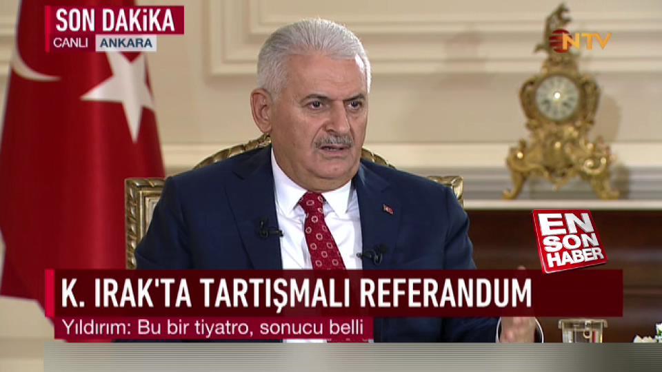 Başbakan'dan CHP'nin Barzani eleştirilerine yanıt
