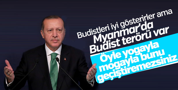 Cumhurbaşkanı Erdoğan: Myanmar'da bir Budist terörü var