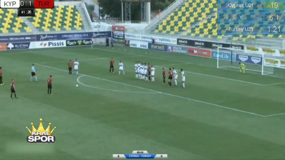 Orkan'ın U21 maçında Kıbrıs'a attığı nefis gol