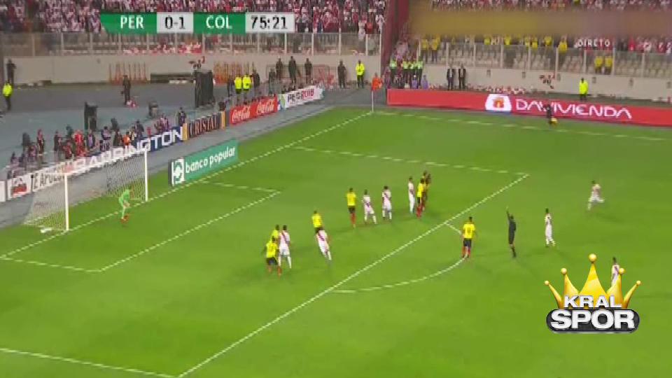 Paolo Guerrero'dan şık frikik golü