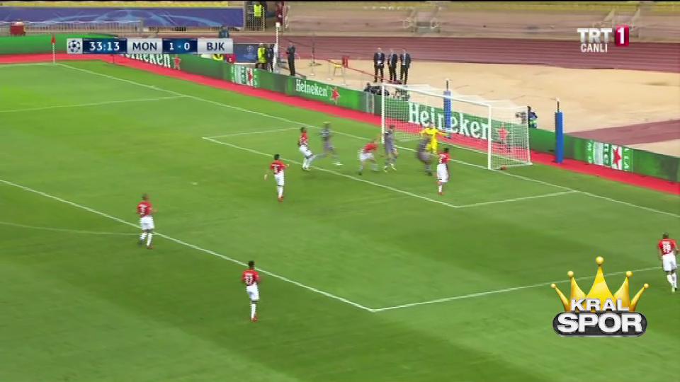 Monaco 1-1 Beşiktaş (Cenk Tosun)