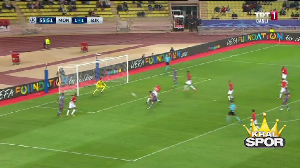 Monaco 1-2 Beşiktaş (Cenk Tosun)