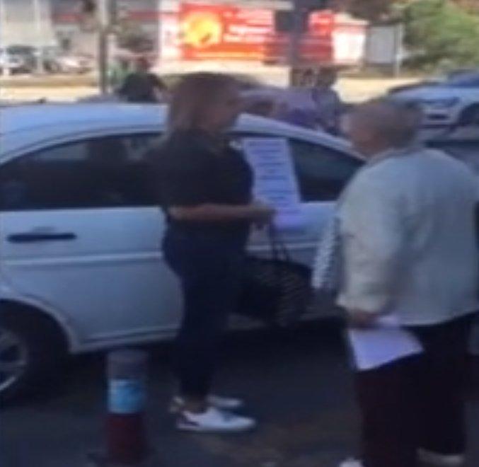 Yaya geçidine otomobilini park eden kadına tepki