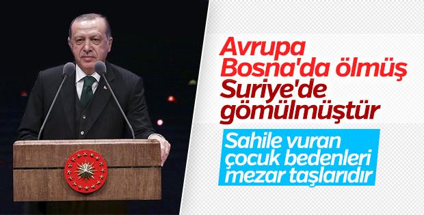 Cumhurbaşkanı Erdoğan: Avrupa değerleri yok edilmiştir