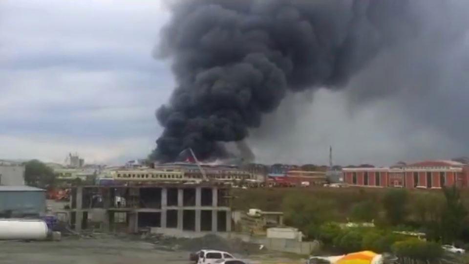Beylikdüzü'nde fabrika yangını