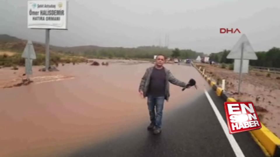 Köyceğiz'de sağanak yağış sele yol açtı