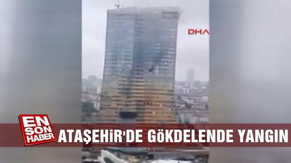 Ataşehir'de gökdelende yangın